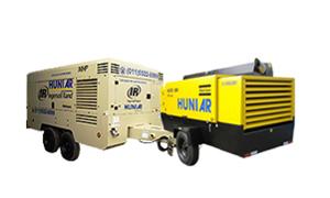 Compressores Diesel Silenciados<br/> De 200 a 1600 PCM<br/> Baixa Média e Alta pressão